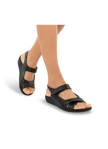 Muya Alula Anatomik Kadın Sandalet Siyah